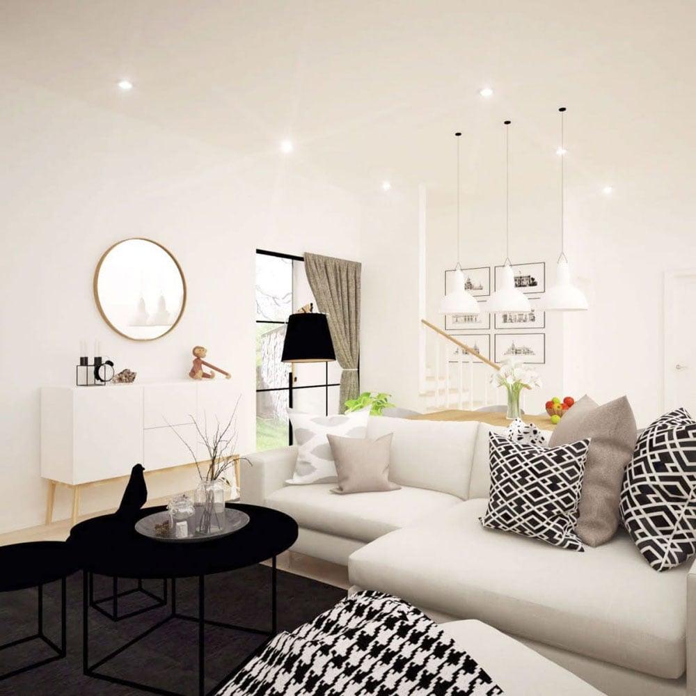 Tambahkan banyak cushion agar kenyamanan di ruang keluarga bertambah
